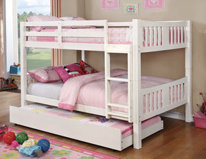 CM-BK929F-WH - Cameron White Full over Full Bunk Bed