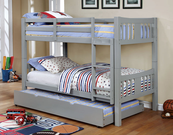 CM-BK929GY - Cameron Grey Twin over Twin Bunk Bed