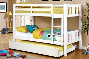CM-BK929WH - Cameron White Twin over Twin Bunk Bed