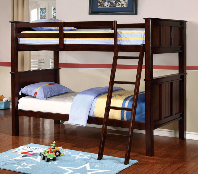 CM-BK930T - Gracie Dark Walnut Twin over Twin Bunk Bed