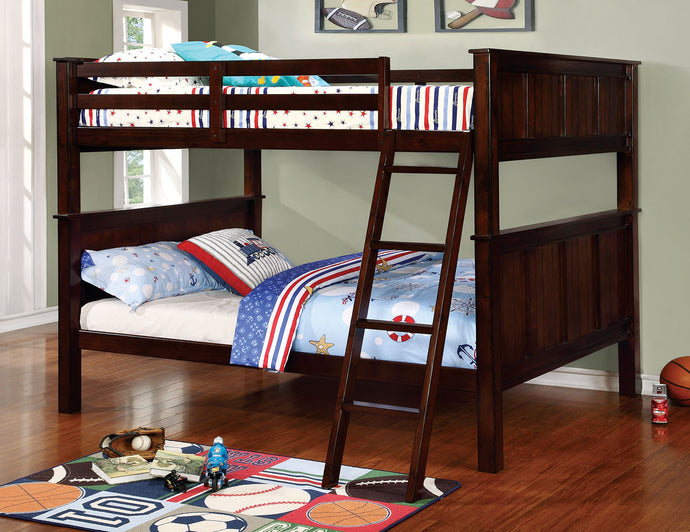 CM-BK930FF - Gracie Dark Walnut Full over Full Bunk Bed