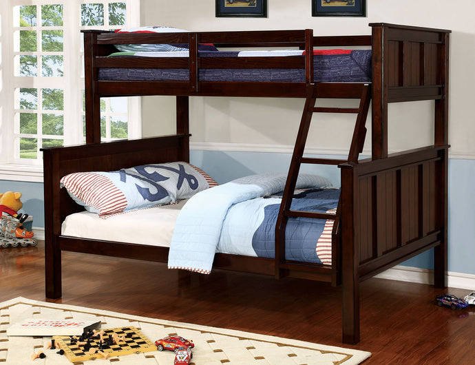 CM-BK930TF - Gracie Dark Walnut Twin over Full Bunk Bed