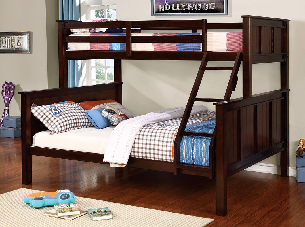 CM-BK930TQ - Gracie Dark Walnut Twin over Queen Bunk Bed