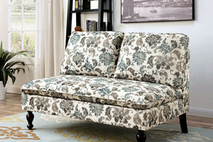 CM-BN1248 Bench - Kenzie Floral Design Fabric Contemporary Style Bench
