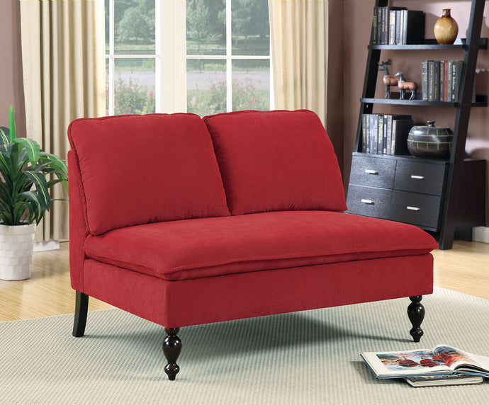 CM-BN1248 Bench - Kenzie Red Finish Fabric Contemporary Style Bench