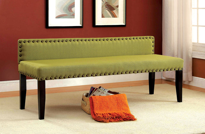 CM-BN6051 Bench - Herstal Green Finish Contemporary Style Fabric Bench