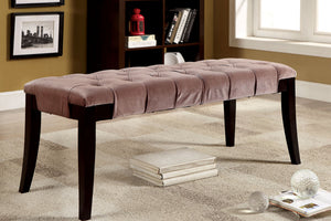 CM-BN6201 Bench - Milany Brown Finish Contemporary Style Fabric Bench