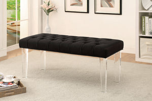 CM-BN6202 Bench - Mahony Black Finish Contemporary Style Fabric Bench
