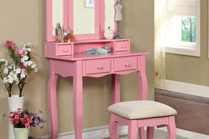 CM-DK6846PK  - Janelle Vanity Table with Stool