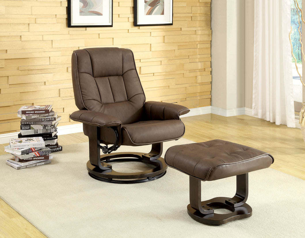 CM-RC6920 - Cheste Swivel Lounger Chair with Ottoman