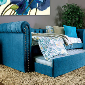 CM1027TL - Leanna Dark Teal Twin Daybed with Trundle