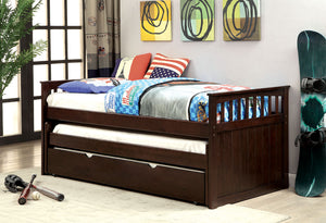 CM1610 Twin Daybed - Gartel Espresso Transitional Style Nesting Daybed