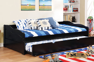 CM1737BK Twin Daybed - Sunset Transitional Black Daybed With Trundle