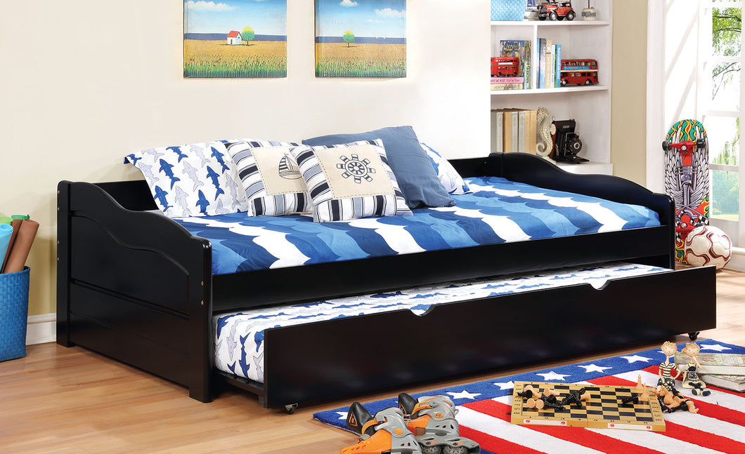 CM1737BK - Sunset Black Twin Daybed With Trundle