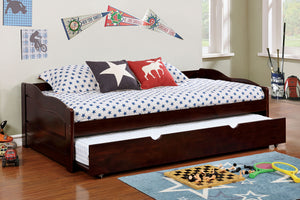 CM1737EX Twin Daybed - Sunset Transitional Espresso Daybed With Trundle