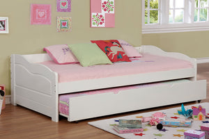 CM1737WH Twin Daybed - Sunset Transitional White Daybed With Trundle