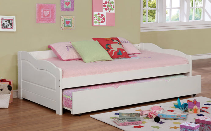 CM1737WH - Sunset White Twin Daybed With Trundle