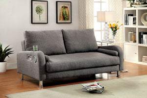 CM2195 - Raquel Grey Adjustable Futon Sofa