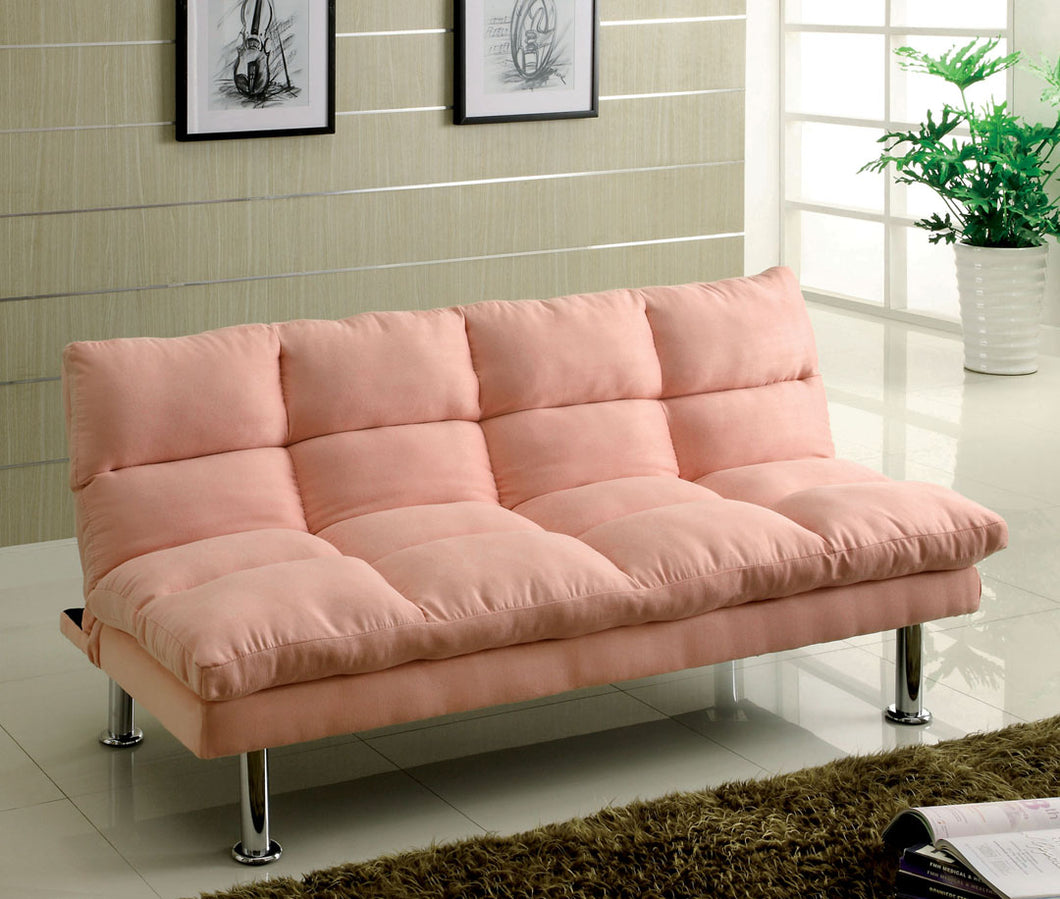 CM2902PK - Saratoga Pink Adjustable Futon Sofa
