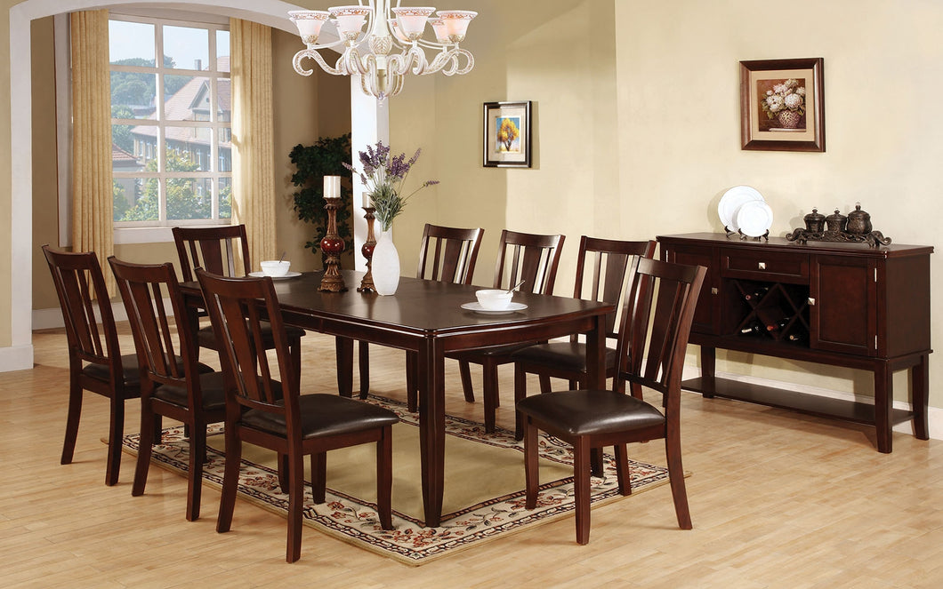 9-Piece Dining Table Set CM3336T - Edgewood Dining Table with 8 Chairs