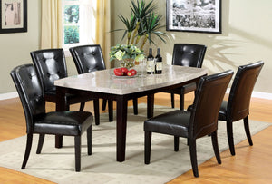CM3866T - Marion Genuine Marble Top Dining Table with 6 Chairs