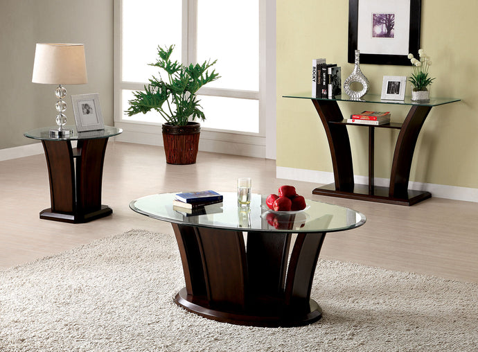 CM4104 Coffee Table - Manhattan Dark Cherry Contemporary Style Coffee Table