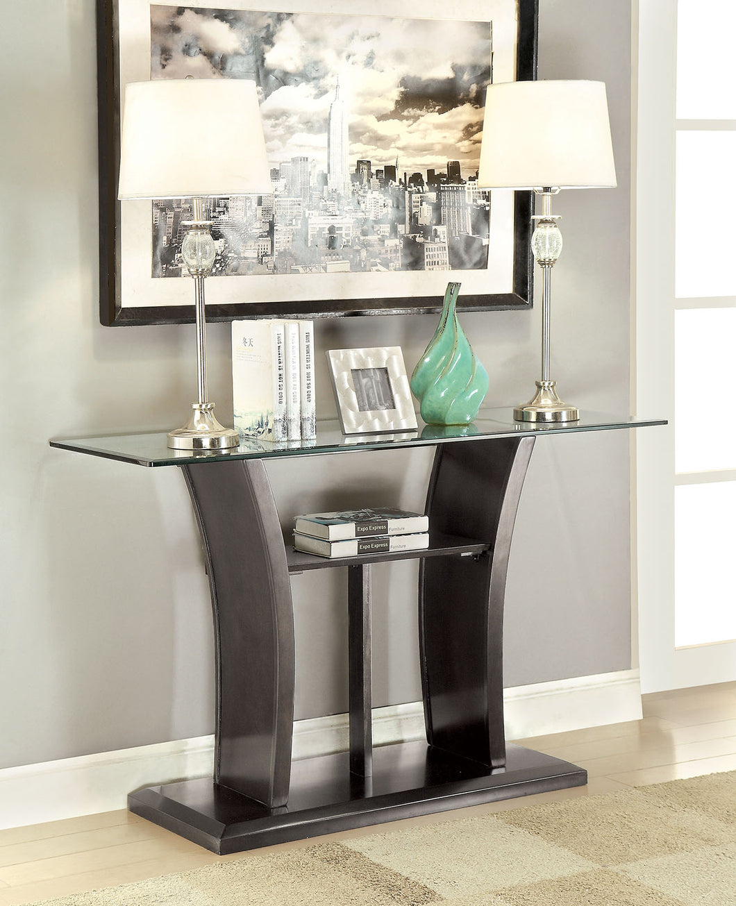 CM4104GY-S - Manhattan Grey Sofa Table