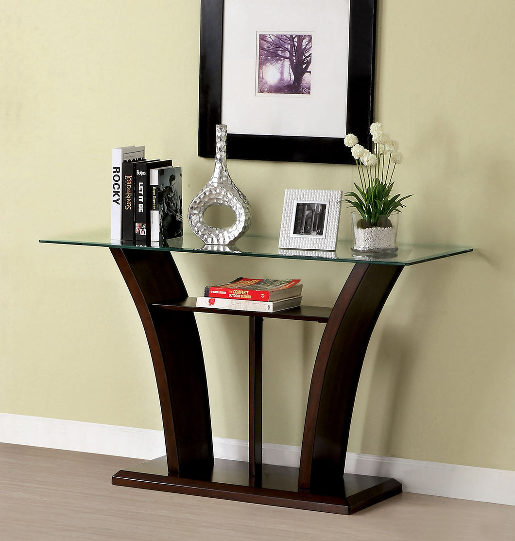 CM4104S - Manhattan Dark Cherry Sofa Table