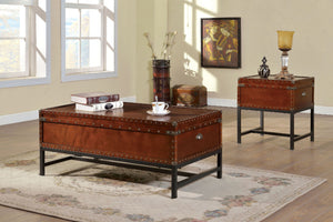 CM4110 Storage Coffee Table - Milbank Cherry Finish Storage Coffee Table