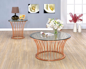 CM4124C - Celise Rose Gold Coffee Table