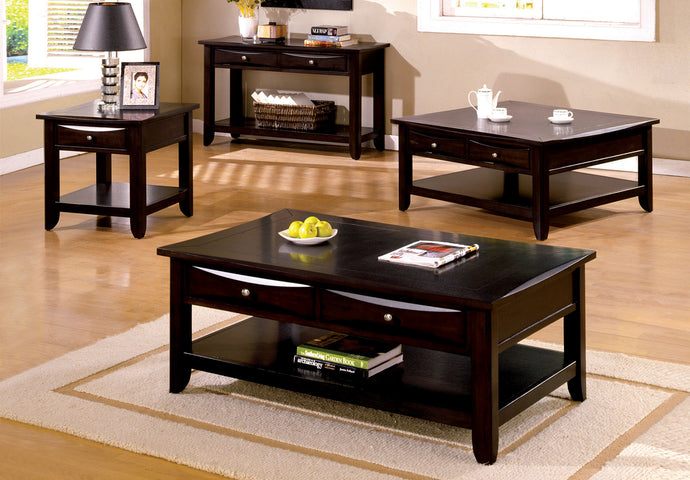 CM4265 Coffee Table - Baldwin Espresso Finish Contemporary Style Coffee Table