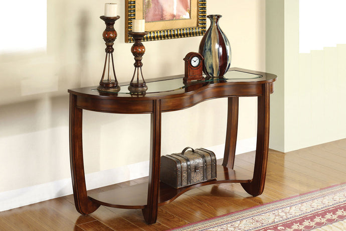 CM4336 Sofa Table - Crystal Falls Dark Cherry Finish Transitional Style Sofa Table