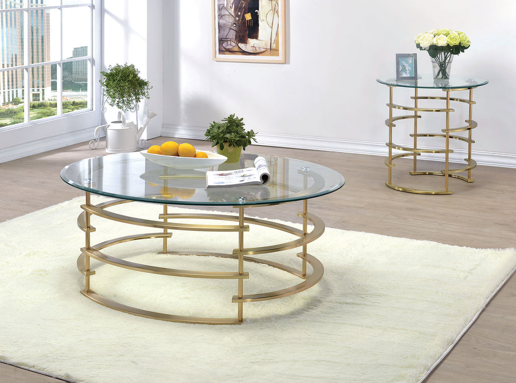 CM4359GL-C - Clonmel Gold Coffee Table