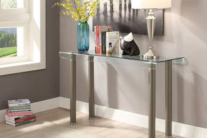 CM4361 Sofa Table - Castlebar Champagne Finish Contemporary Style Sofa Table