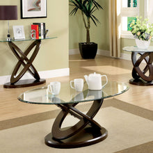 CM4401 Coffee Table - Atwood Dark Walnut Finish Contemporary Style Oval Coffee Table