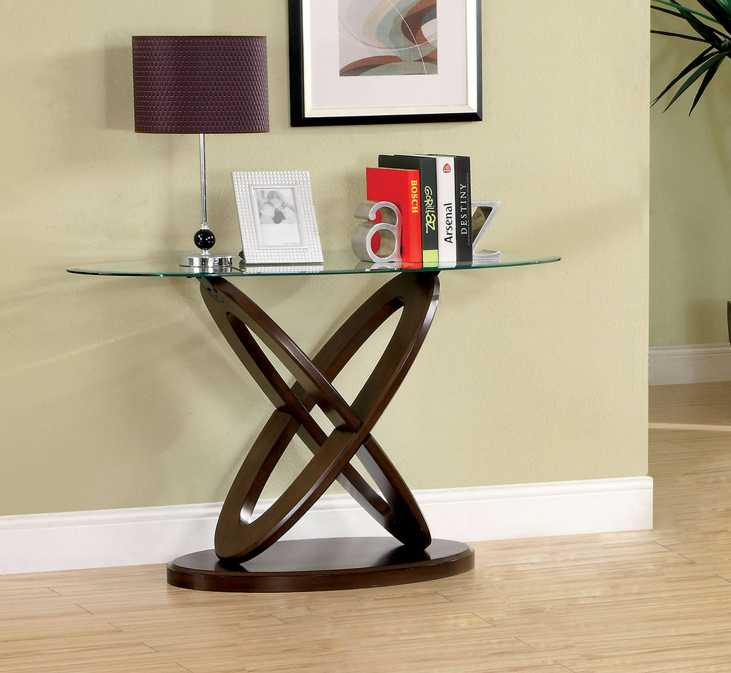 CM4401S - Atwood Glass Top Sofa Table