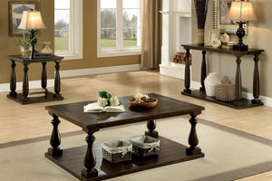 CM4420 Coffee Table - Luann Transitional Style Dark Walnut Finish Coffee Table