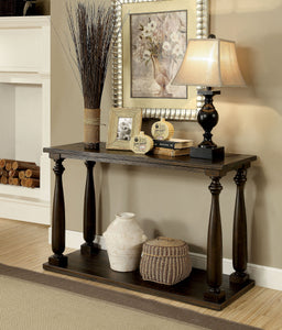 CM4420 Sofa Table - Luann Transitional Style Dark Walnut Finish Sofa Table