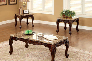 CM4487-3PK - Lechester Ivory Coffee Table Set