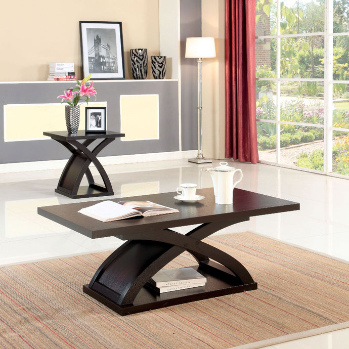 CM4641 Coffee Table - Arkley Espresso Finish Contemporary Style Coffee Table