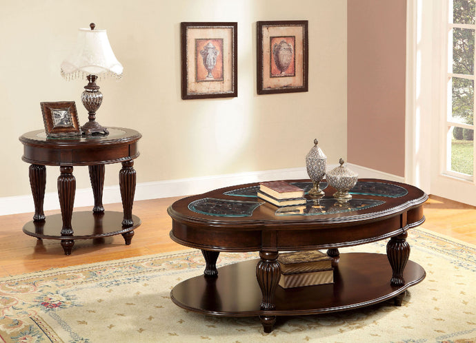 CM4642 Coffee Table - Centinel Dark Cherry Traditional Style Coffee Table