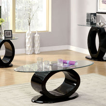 CM4825 Coffee Table - Lodia Black Finish Contemporary Style Coffee Table