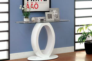CM4825 Sofa Table - Lodia White Finish Contemporary Style Sofa Table
