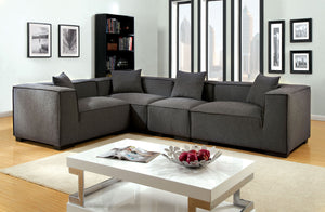CM6037 Modular Sectional - Langdon Transitional Style Gray Finish Modular Sectional Sofa