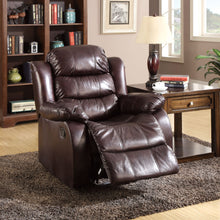 CM-6551C Recliner Chair - Berkshire Dark Brown Finish Faux Leather Recliner