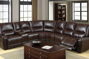 CM6559 - Keystone Home Theater Sectional with 3-Recliners