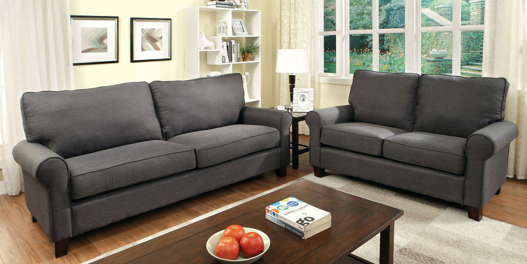 CM6760GY Sofa - Hensel Grey Finish Fabric Transitional Style Sofa