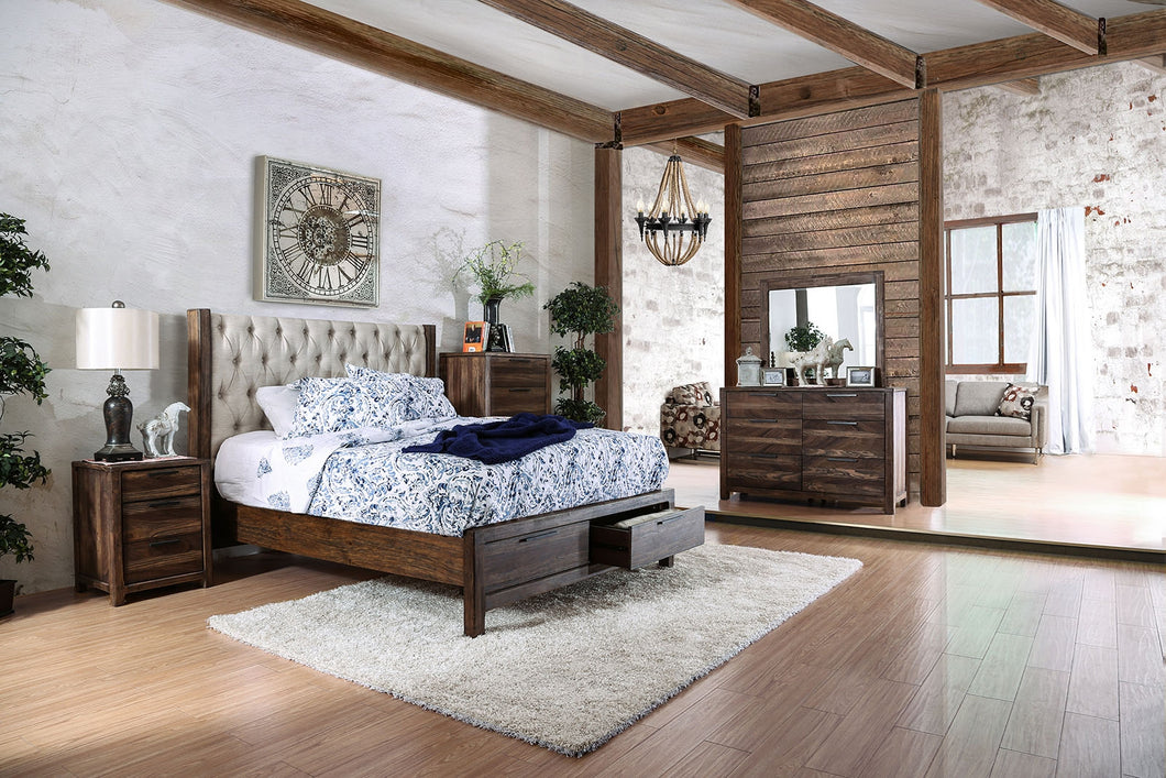 CM7577DR Hutchinson Rustic Queen Bed