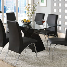Dining Table CM8370BK-T - Wailoa Black Dining Table with 6 Black Chairs