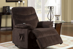 CM-RC6933 Power Lift Recliner Chair - Perth Coco Brown Bella Fabric Power Motion Recliner
